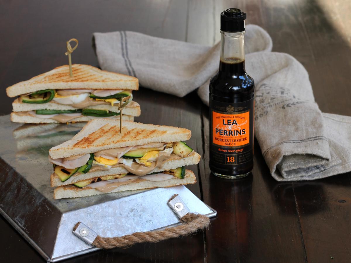 CLUB SANDWICH RICETTA veloce con tacchino verdure