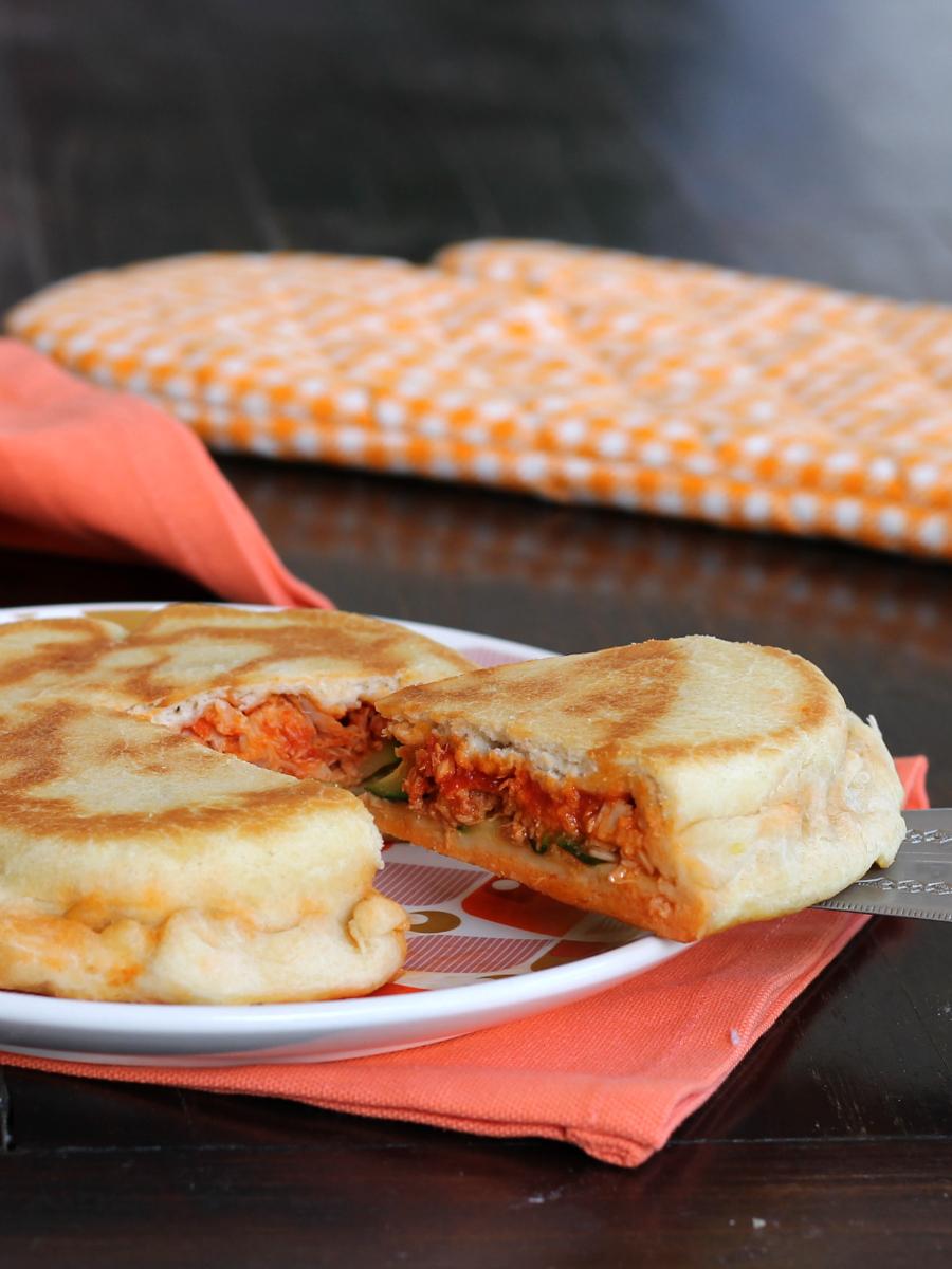 FOCACCIA TONNO ZUCCHINE VELOCE ricetta in padella senza forno