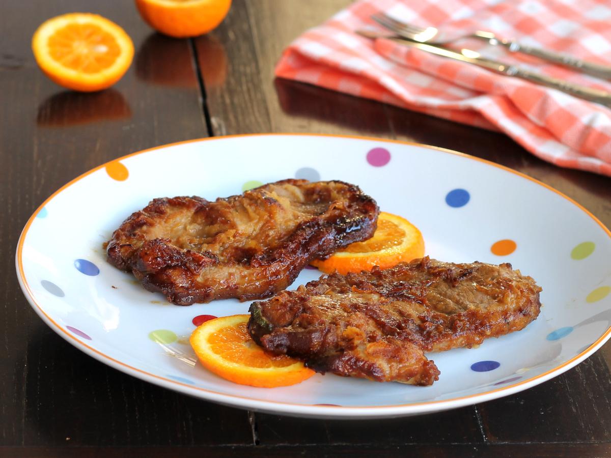 SCALOPPINE DI MAIALE GLASSATO ricetta secondi piatto di carne