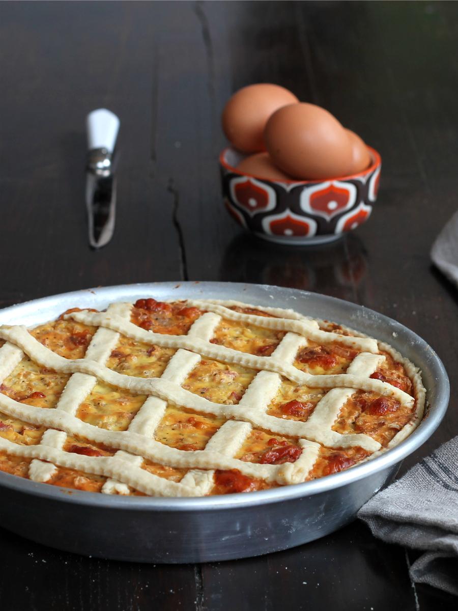 TORTA DI RISO SALATA ricetta crostata con prosciutto cotto formaggio