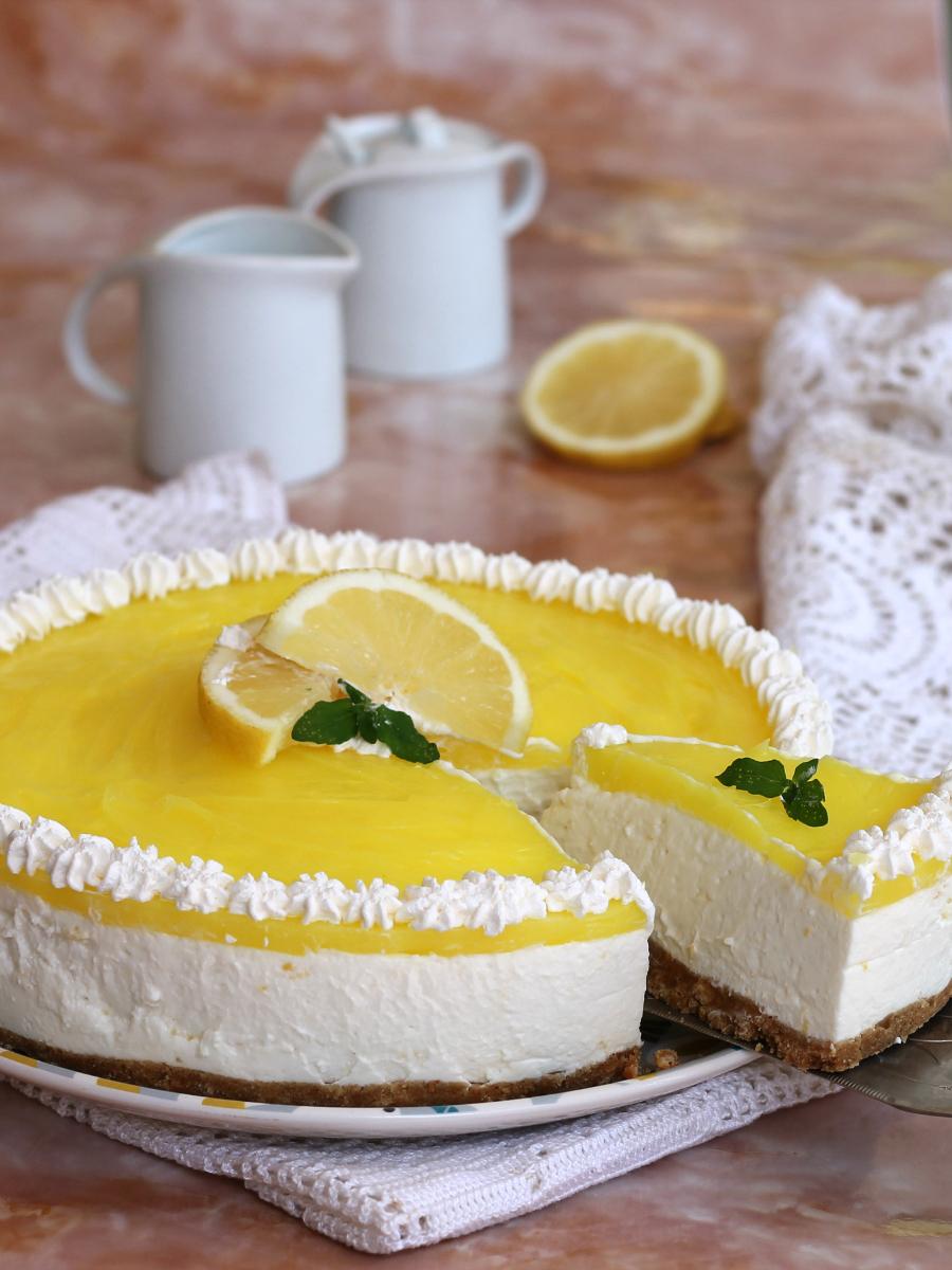 CHEESECAKE AL LIMONE ricetta dolce freddo senza forno