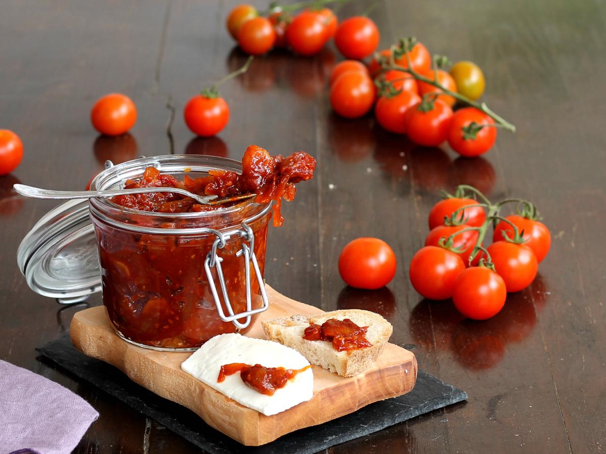 CHUTNEY DI POMODORINI ricetta marmellata per formaggi e bruschette