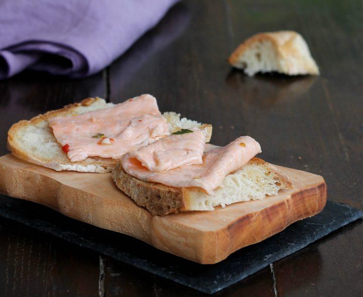 RICETTA SALMONE MARINATO fatto in casa   antipasto di pesce facile