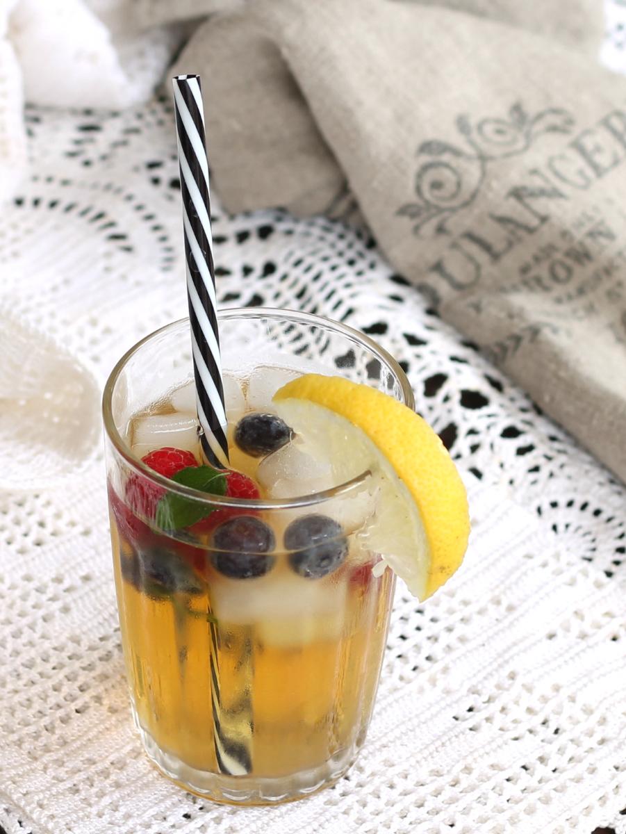 TE FREDDO AL LIMONE ricetta thè fatto in casa con frutta fresca