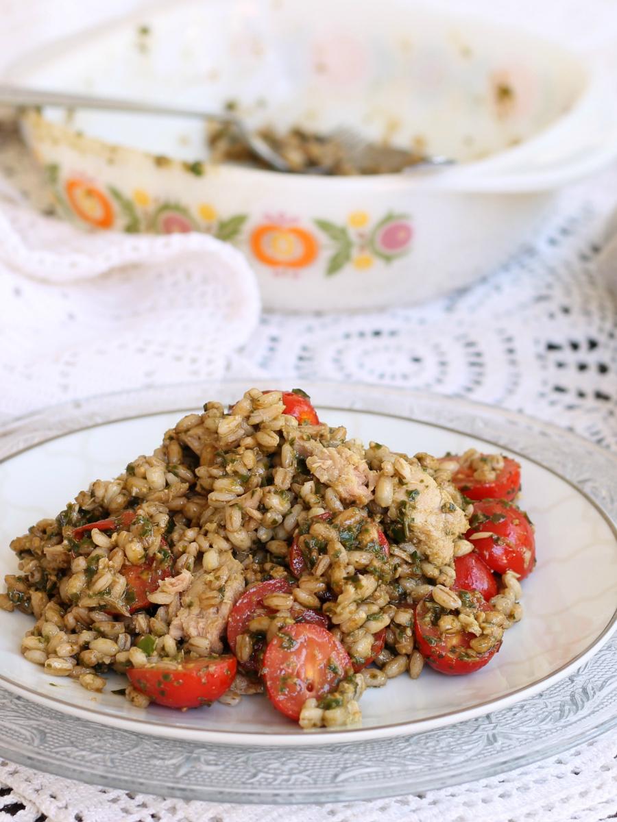 INSALATA FREDDA DI ORZO ricetta primo piatto estivo veloce