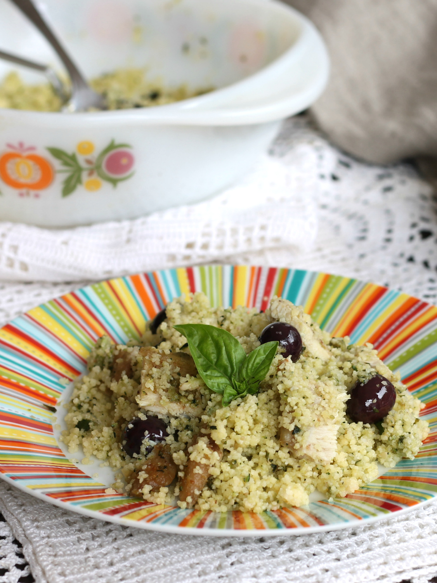 COUS COUS CON PESTO DI ZUCCHINE ricetta piatto unico svuota frigo