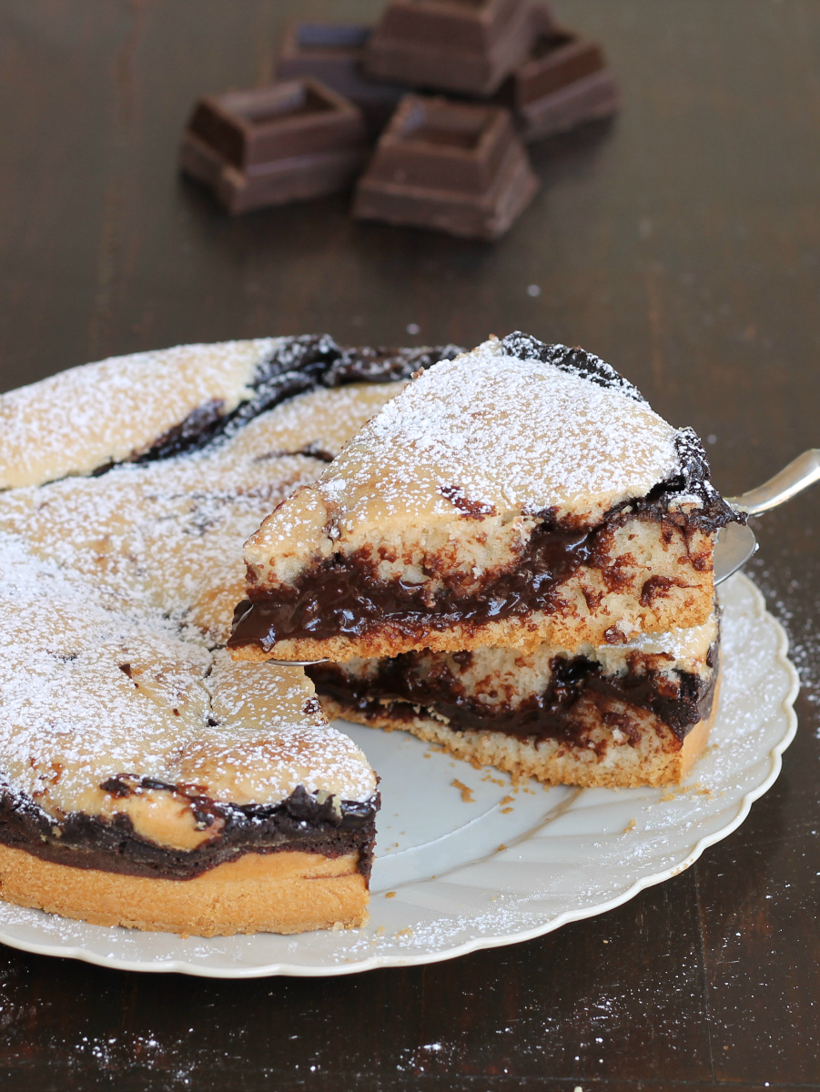 CROSTATA VERSATA SENZA UOVA ricetta dolce al cioccolato light