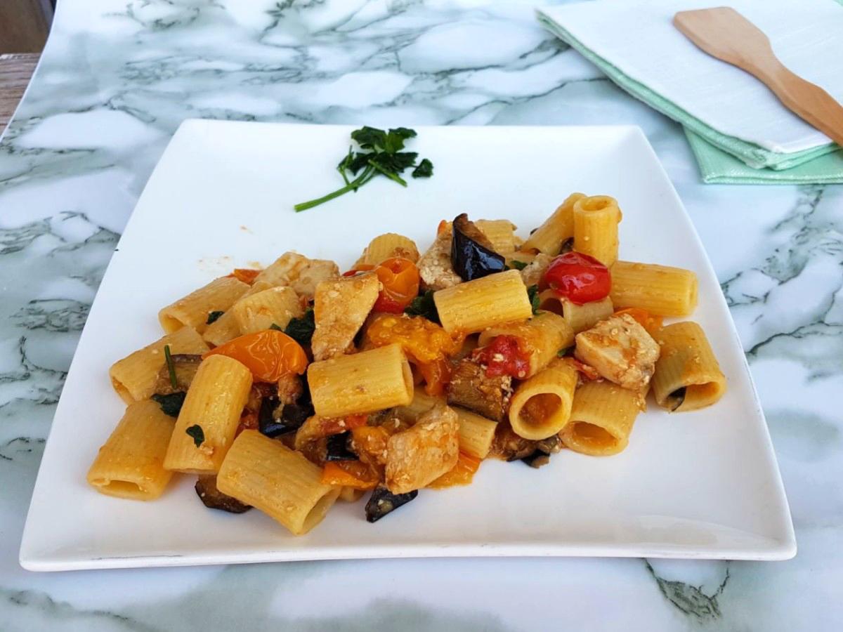 Pasta Pesce Spada E Melanzane Ricetta Primo Di Pesce Con Verdure