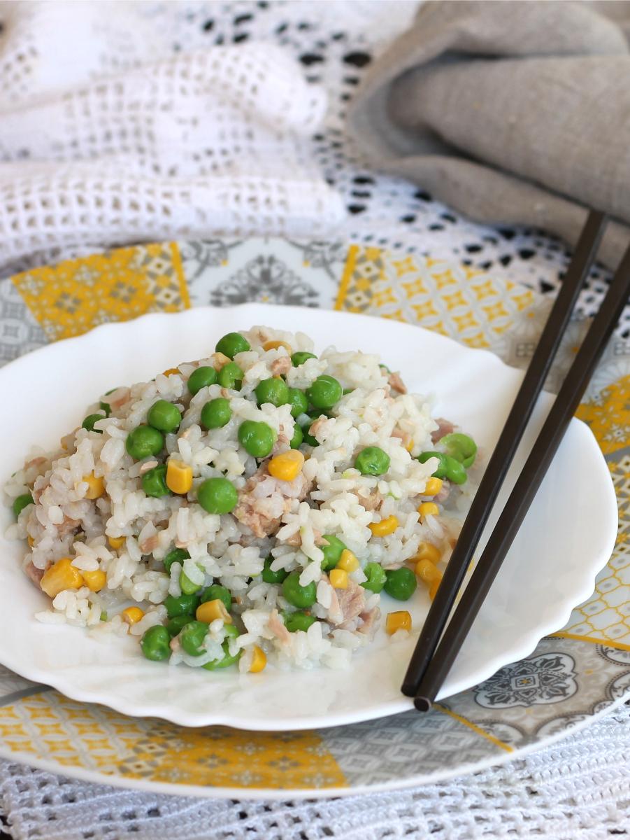 RISO TONNO E PISELLI ricetta piatto freddo senza carne