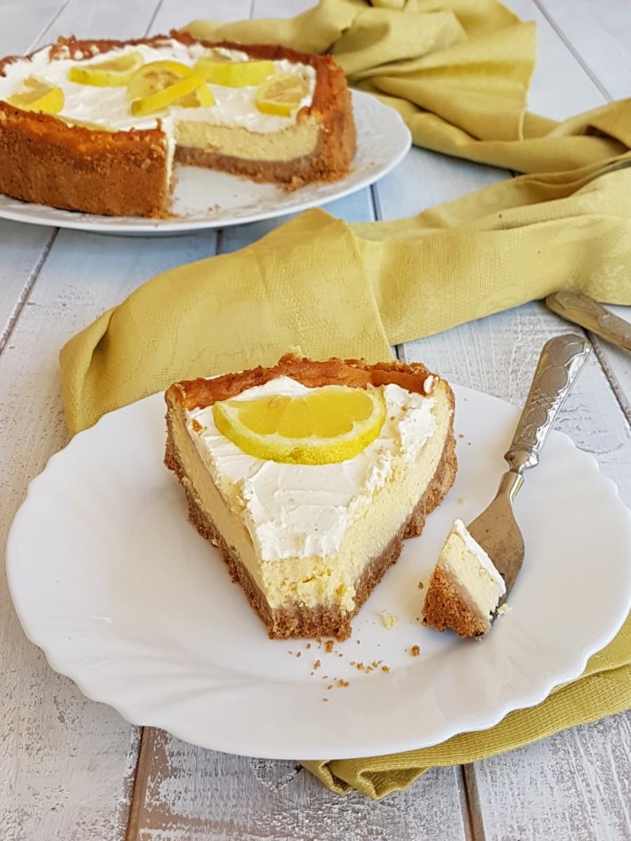 CHEESECAKE LIMONE E MASCARPONE AL FORNO ricetta torta facile
