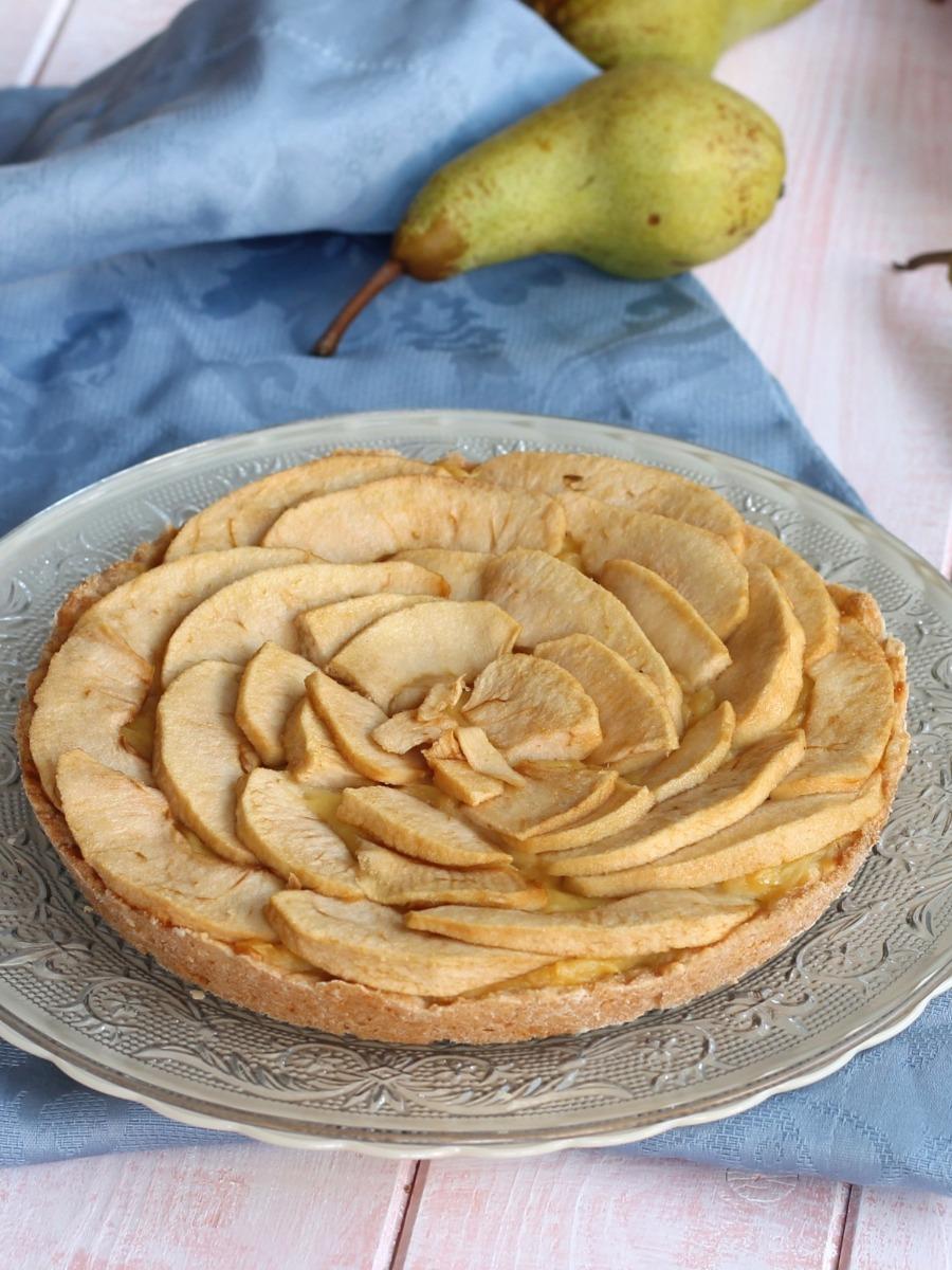Crostata mele e crema ricetta dolce con pasta frolla for Pasta frolla planetaria