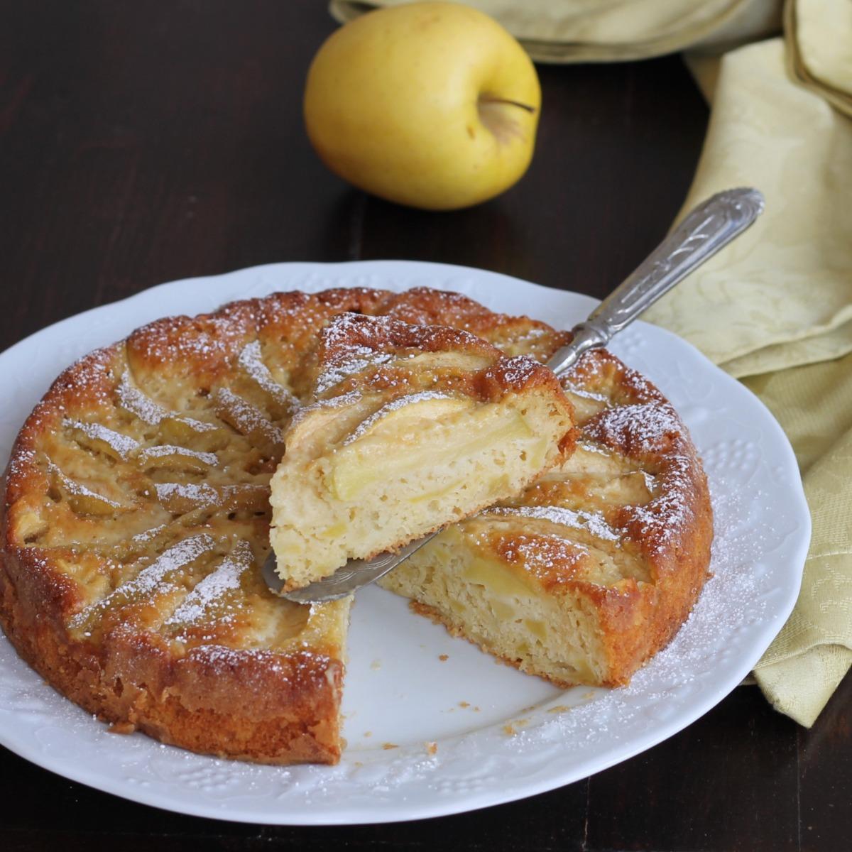 TORTA DI MELE LIGHT ricetta dolce con mele con poco olio senza burro