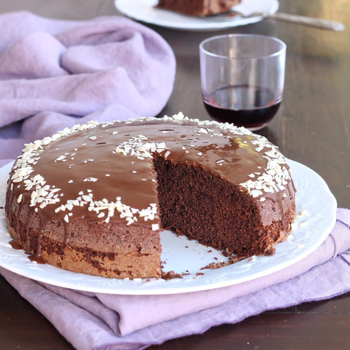 TORTA VINO ROSSO E CIOCCOLATO ricetta torta senza latte e burro