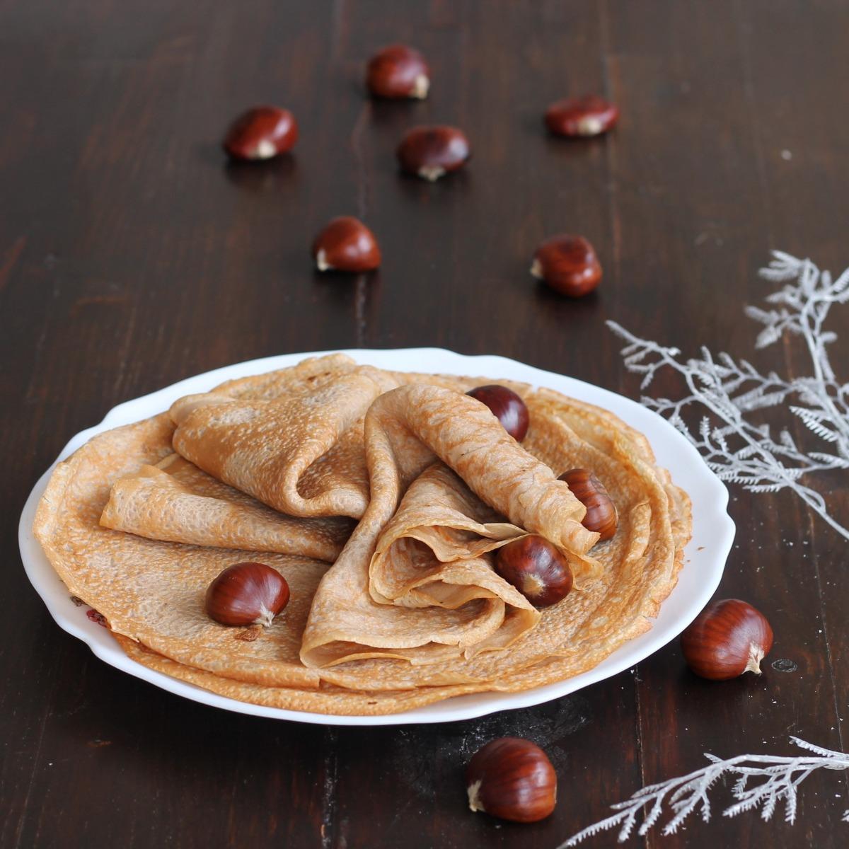 CREPES DI CASTAGNE SENZA BURRO e latte   ricetta senza glutine