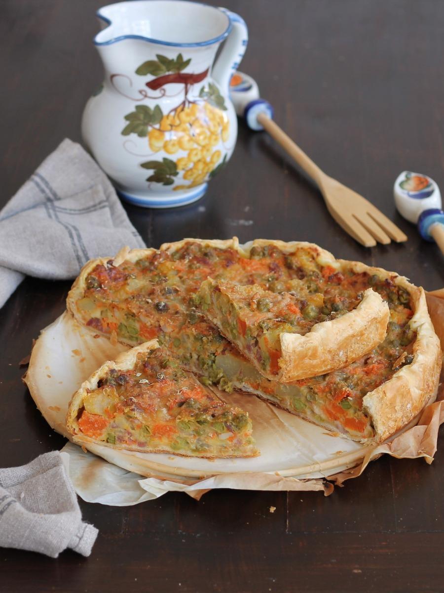 QUICHE ZUCCA E PANCETTA ricetta torta salata con verdure
