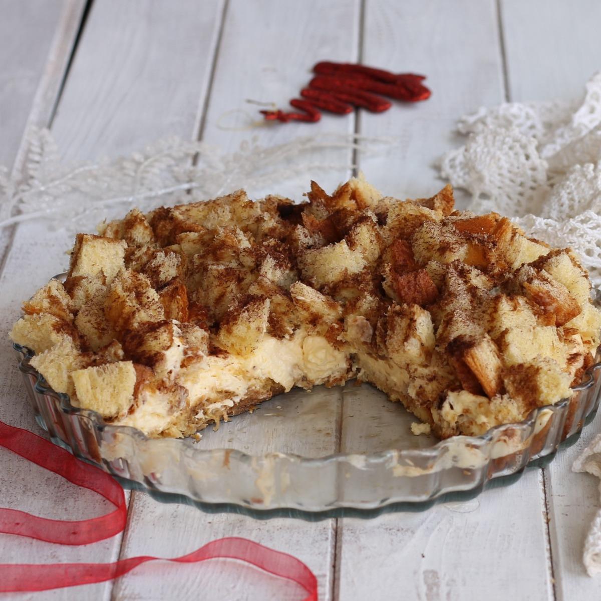 SBRICIOLATA DI PANDORO AL TIRAMISU ricetta dolce di Natale