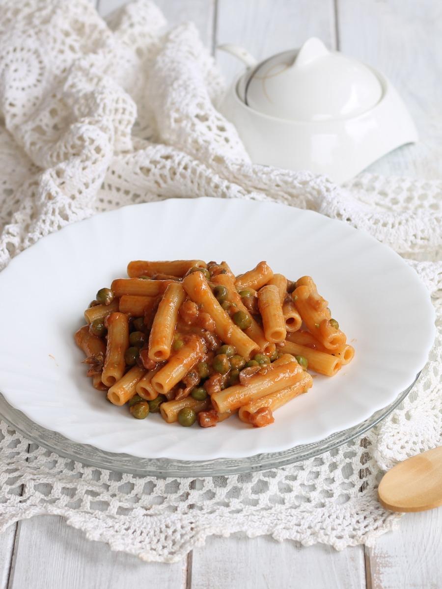 pasta boscaiola con gorgonzola