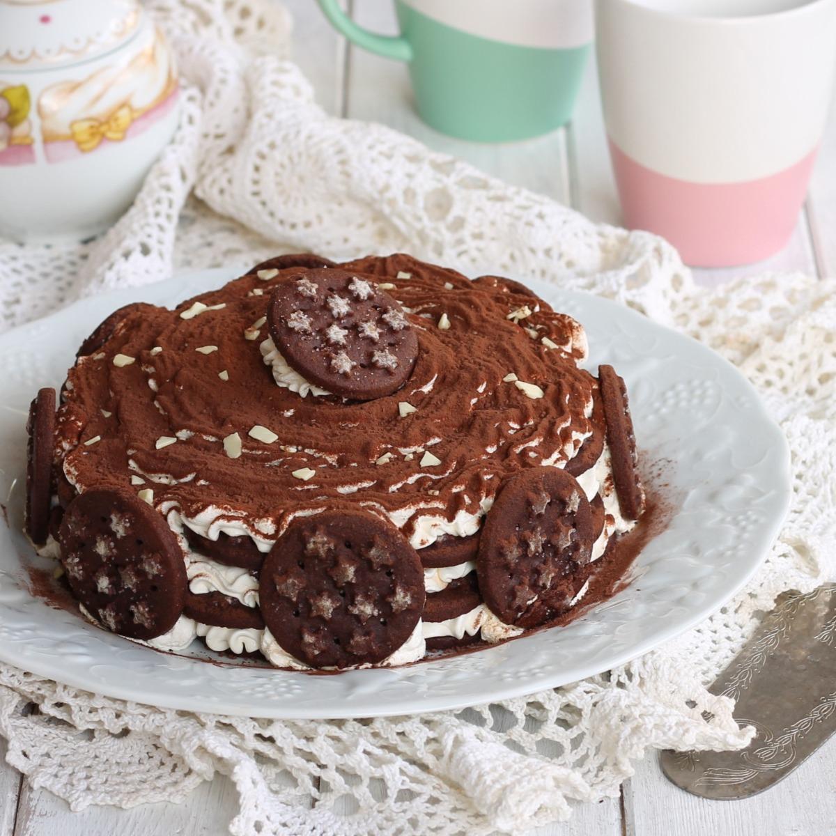 Ricetta Torta Pan Di Stelle Dolce Con Biscotti Mascarpone E Nutella