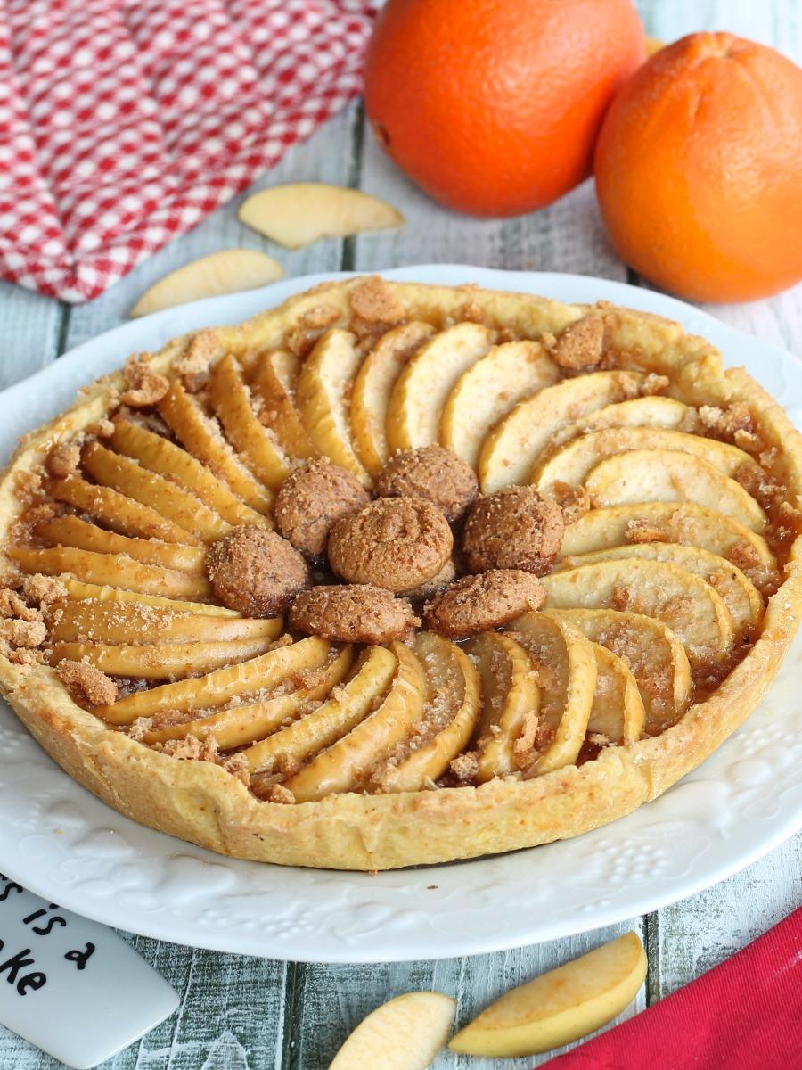Crostata all Arancia con Mele e Amaretti