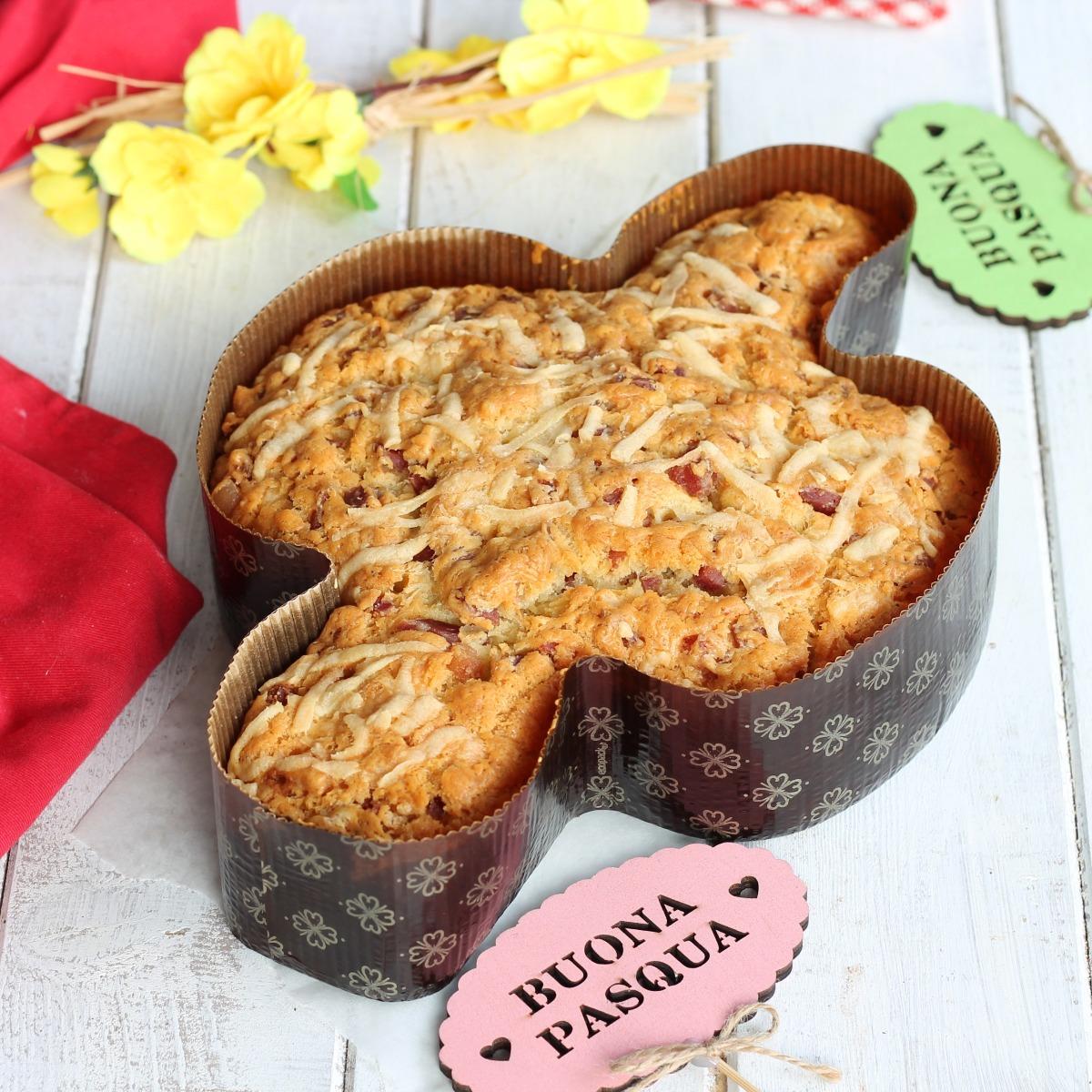 COLOMBA SALATA SENZA LIEVITAZIONE ricetta torta veloce di Pasqua