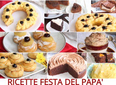 RICETTE FESTA DEL PAPA'