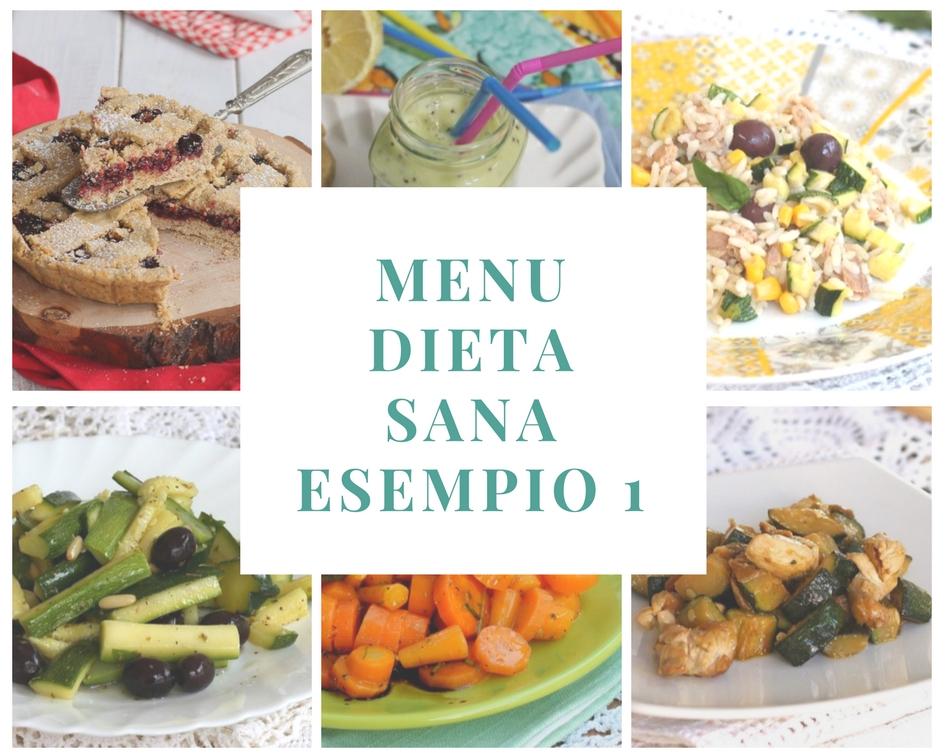 dieta sana ed equilibrata per dimagrire esempio