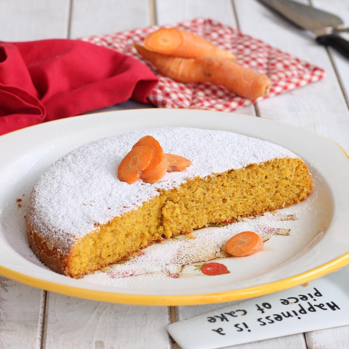 TORTA DI CAROTE LIGHT ricetta torta di carote leggera senza latticini