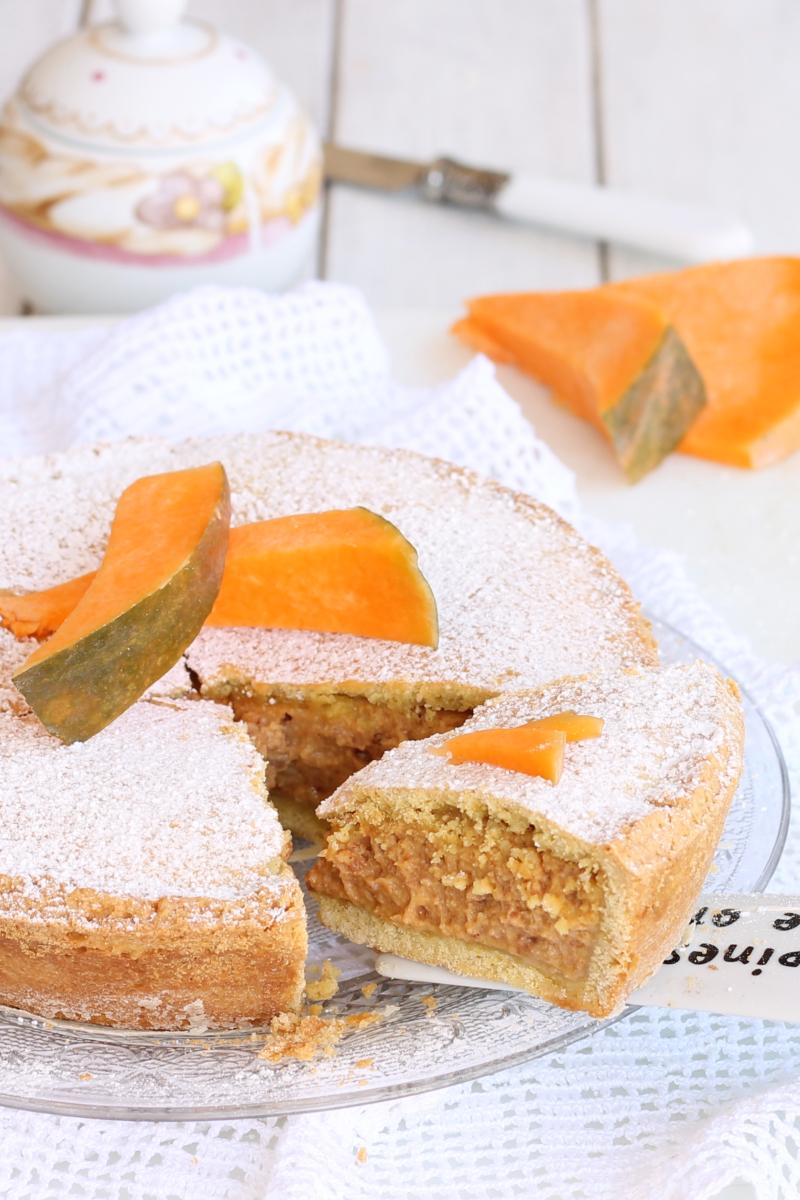 RICETTA CROSTATA MANTOVANA crostata crema di zucca e amaretti