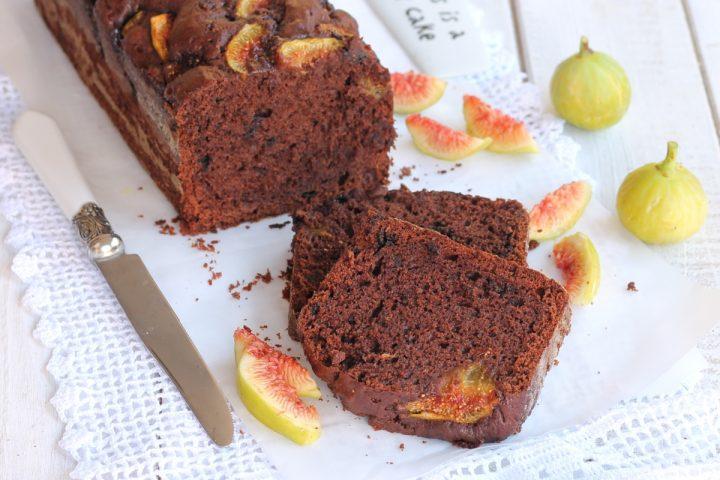PLUMCAKE FICHI E CIOCCOLATO ricetta torta al cioccolato e fichi freschi