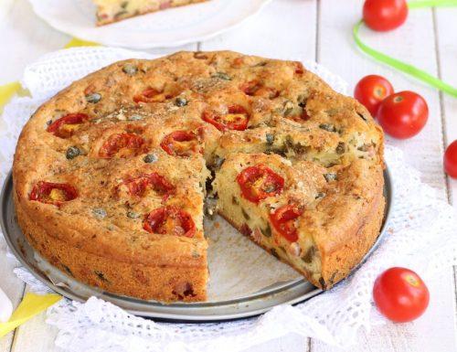 TORTA SALATA PROVOLA E PANCETTA