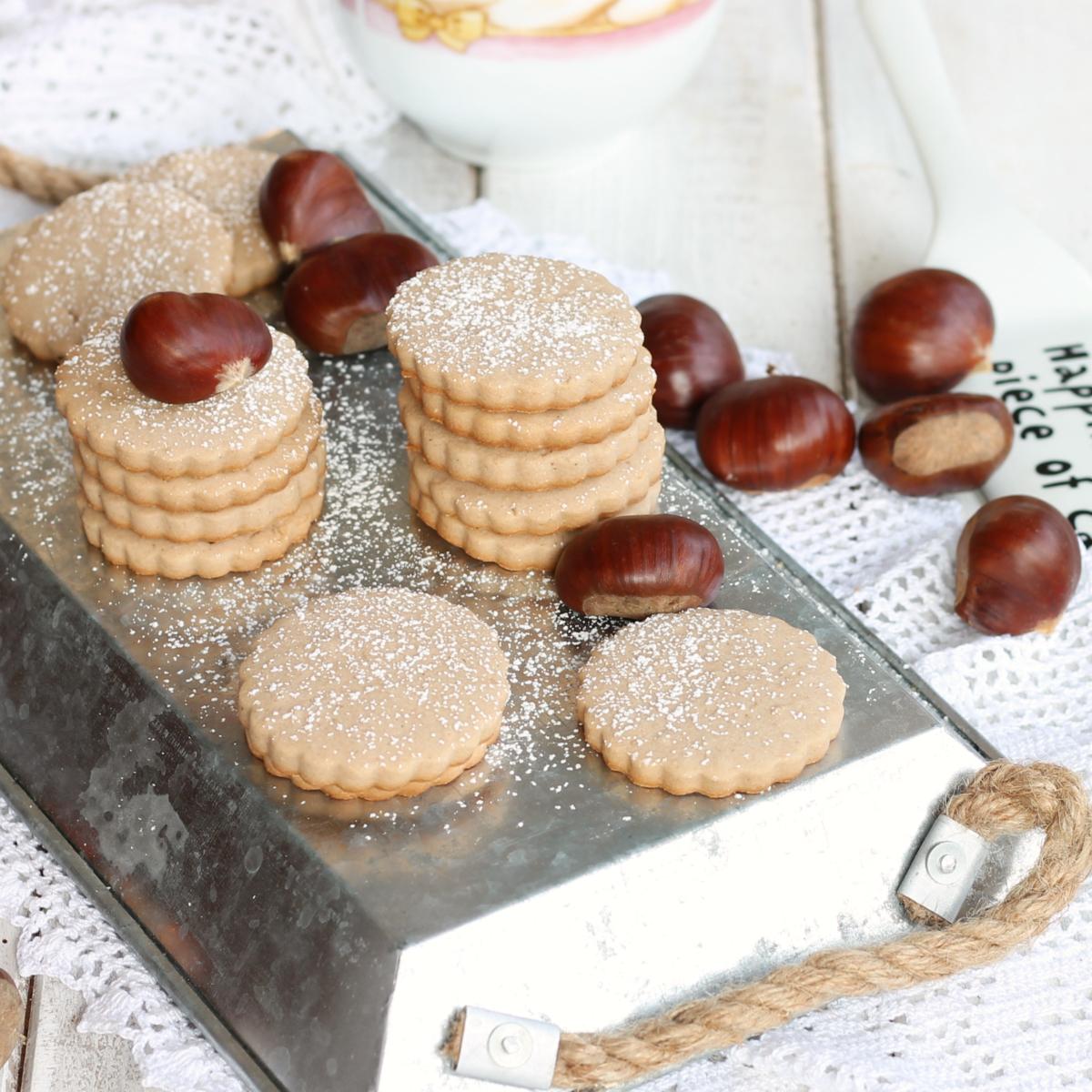 BISCOTTI DI CASTAGNE ricetta frollini con farina di castagne