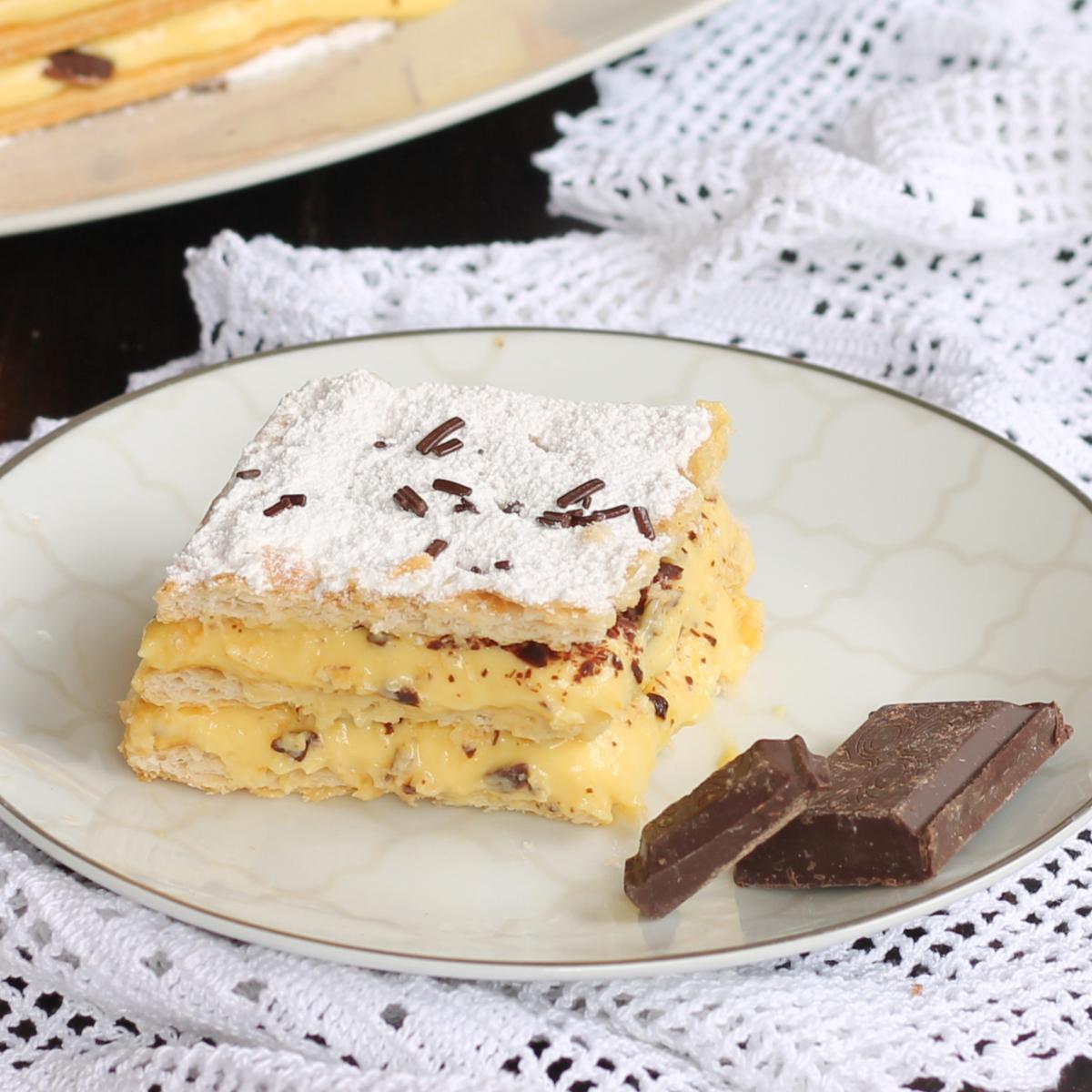 TORTA MILLEFOGLIE ARANCIA ricetta torta con pasta sfoglia e crema