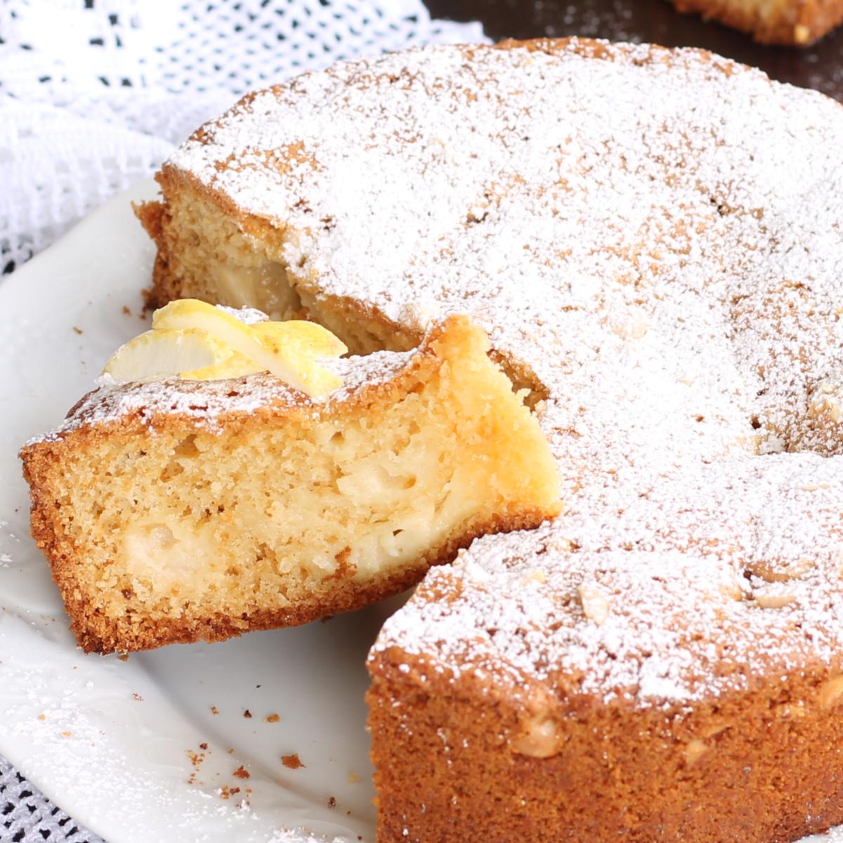 TORTA NUA MANDORLE LIMONE CIOCCOLATO BIANCO ricetta torta nua
