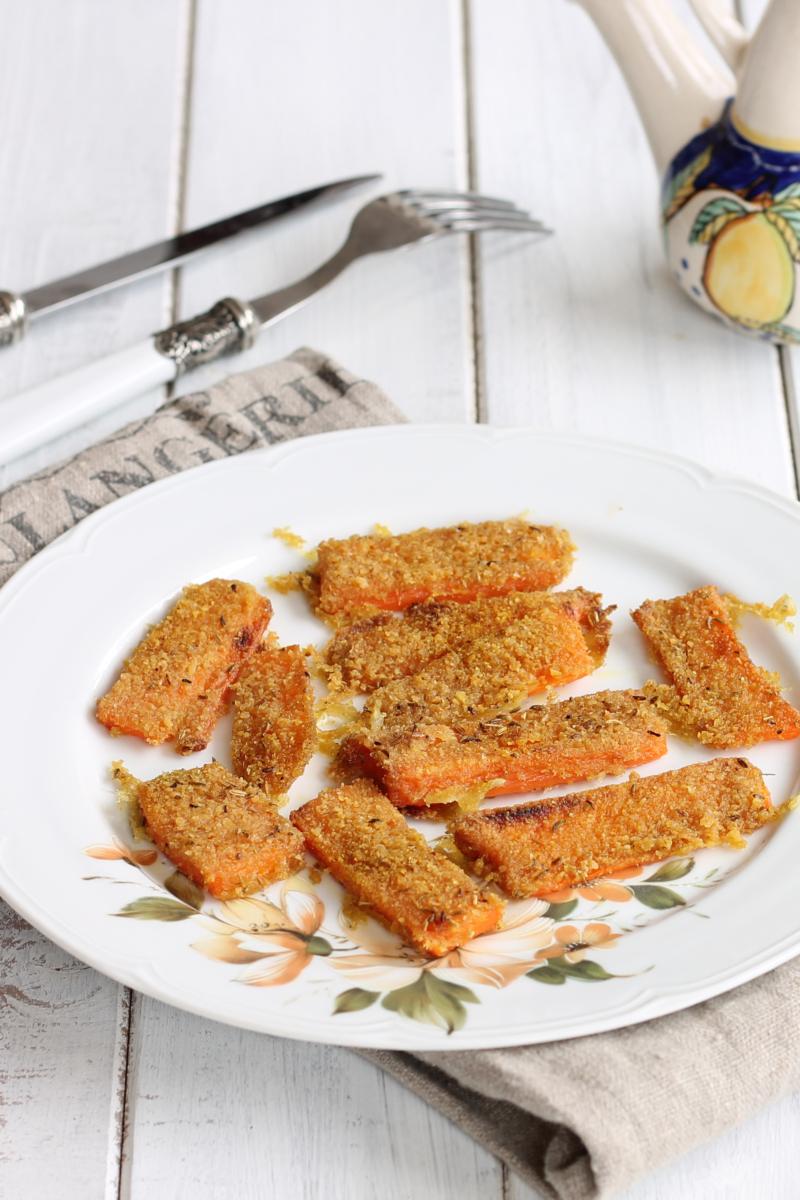 CAROTE AL CURRY GRATINATE ricetta contorno con carote al forno