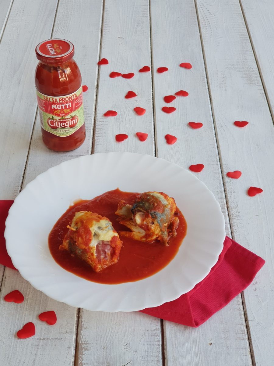 INVOLTINI DI BRANZINO IN PADELLA ricetta secondo per San Valentino