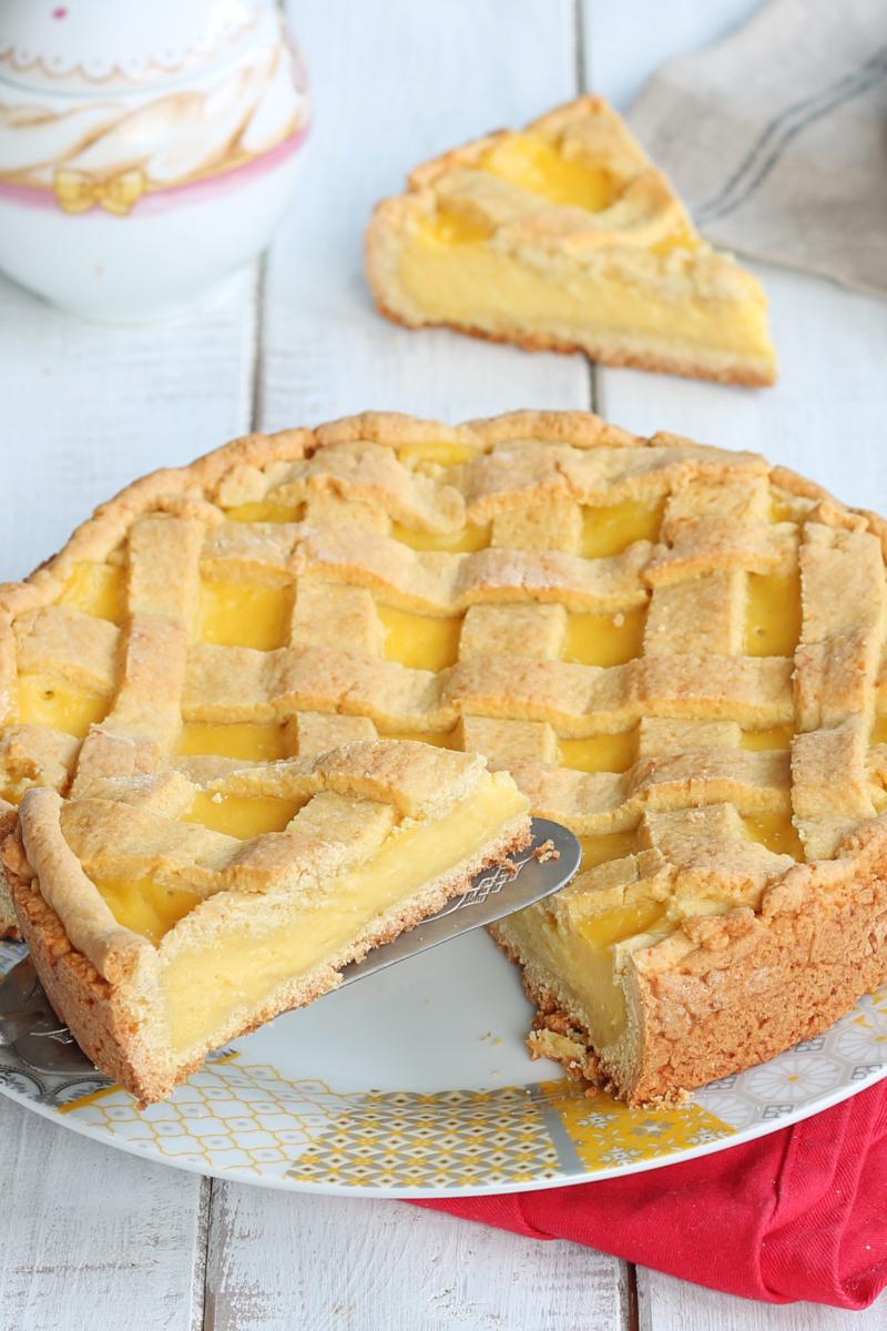 CROSTATA AL LIMONE SEMPLICE ricetta dolce con crema al limone