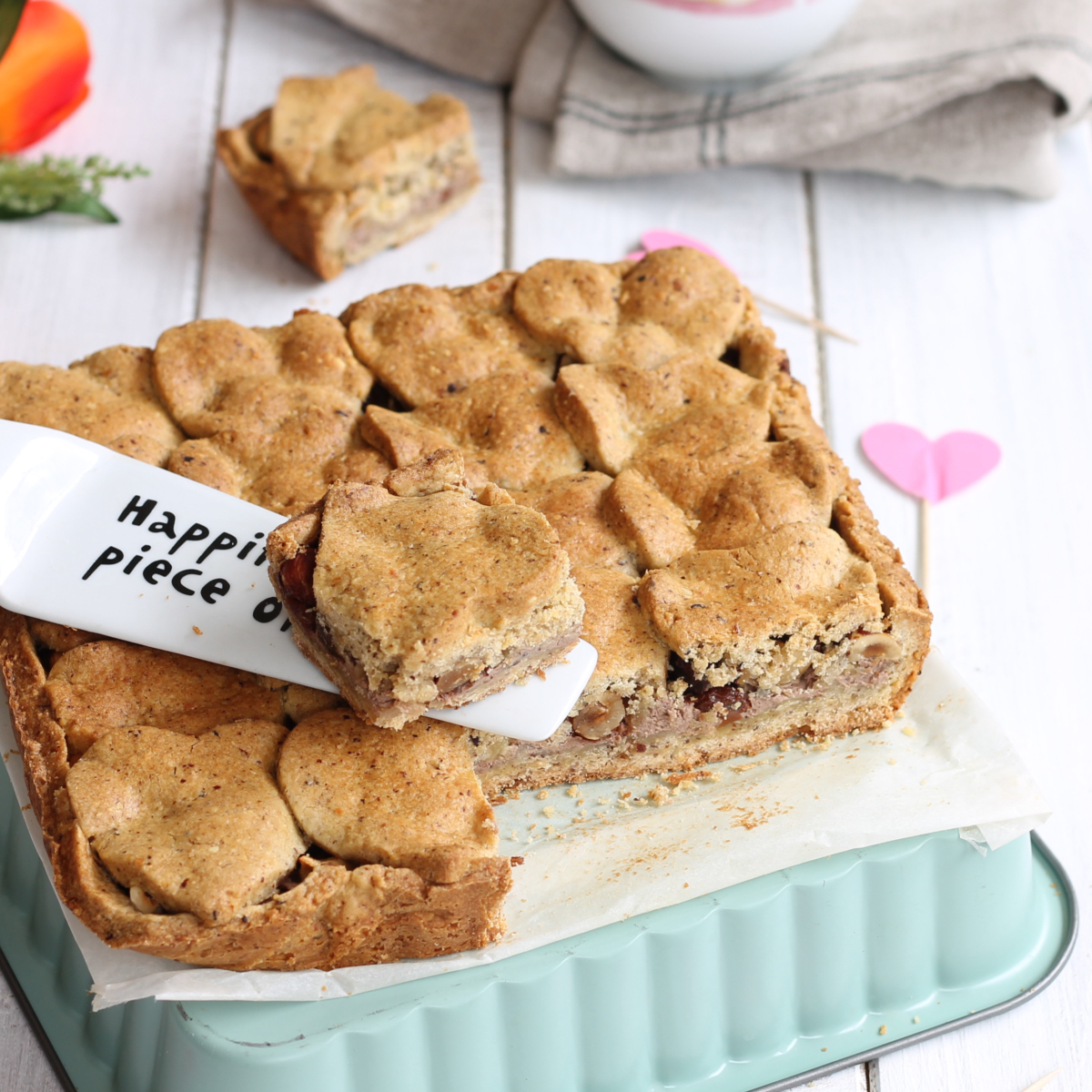 CROSTATA RICOTTA MELE NOCCIOLE ricetta dolce per San Valentino