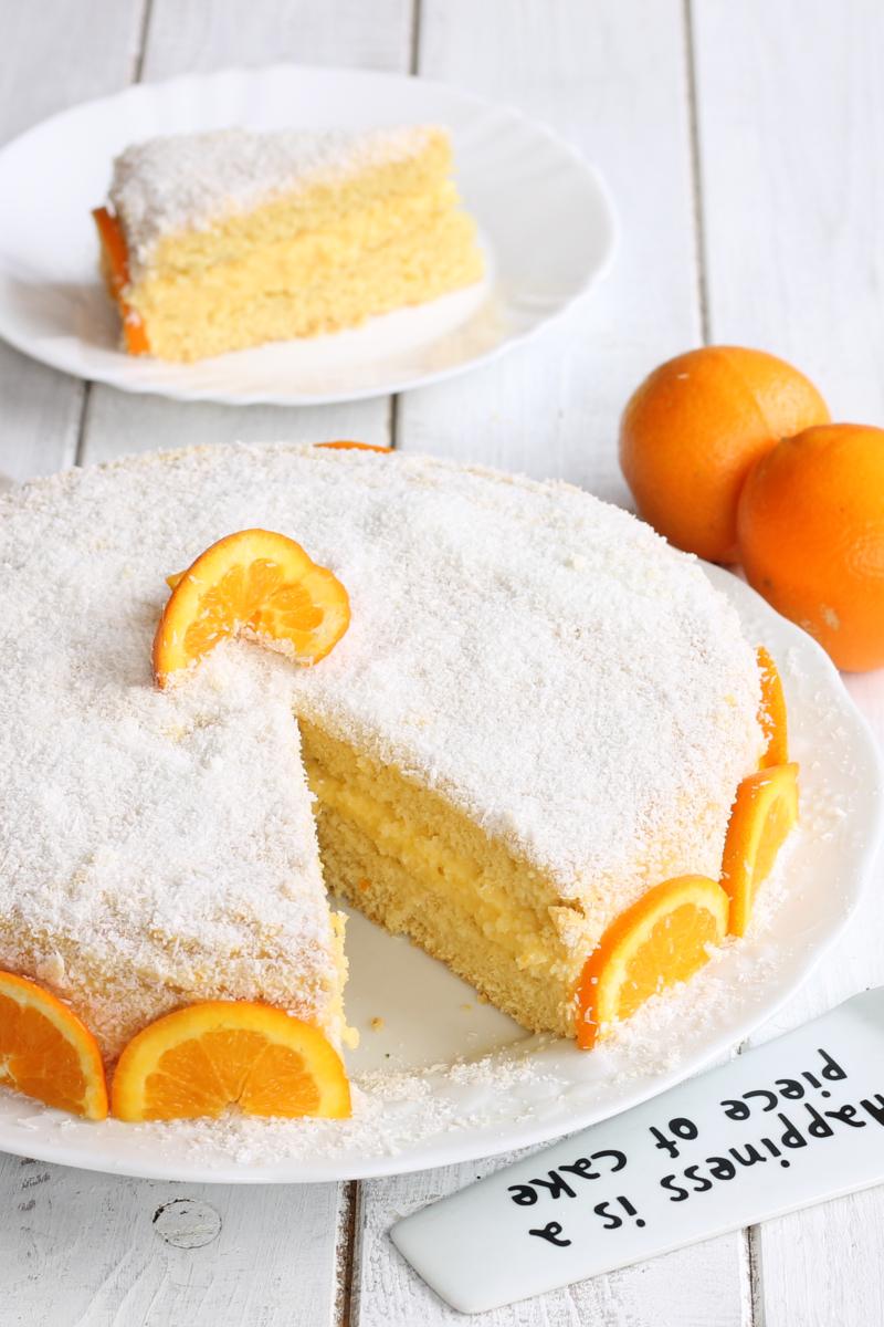 TORTA MARGHERITA CON CREMA ALL'ARANCIA ricetta torta farcita