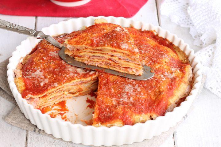 LASAGNE DI CREPES AL FORNO ricetta primo piatto facile e saporito