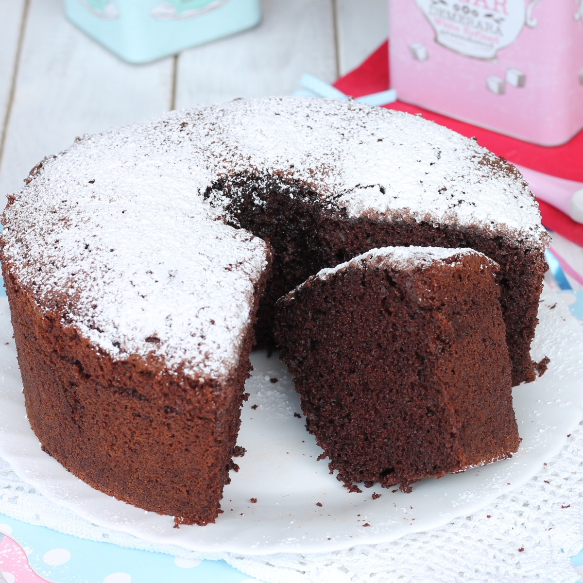 CHIFFON CAKE CACAO ricetta ciambellone americano sofficissimo