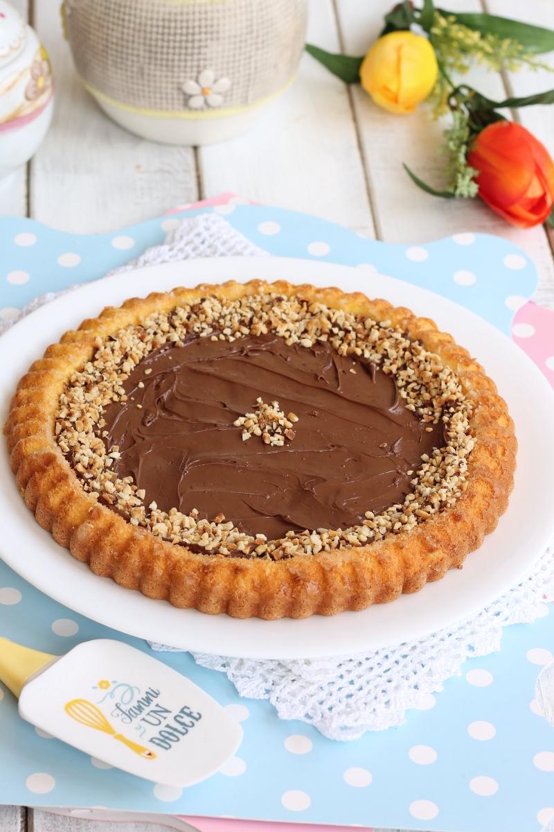 RICETTA CROSTATA SOFFICE CON NUTELLA torta che cuoce in 10 min