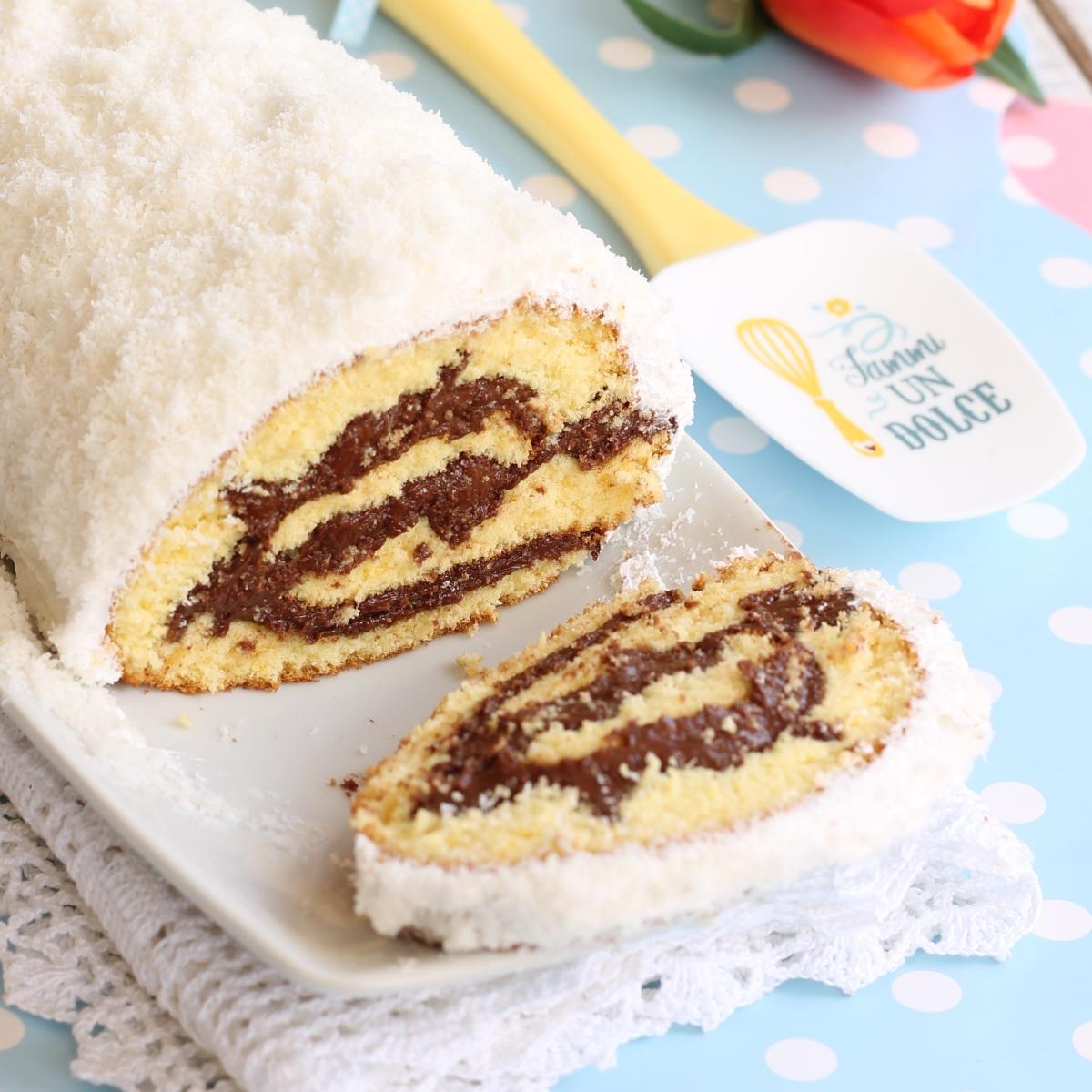 ROTOLO NUTELLA E COCCO ricetta dolce cocco nutella
