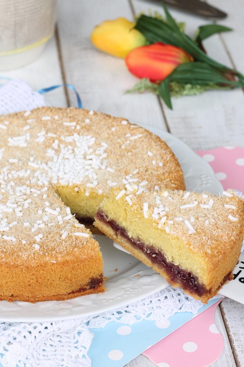 Torta Cocco e Marmellata