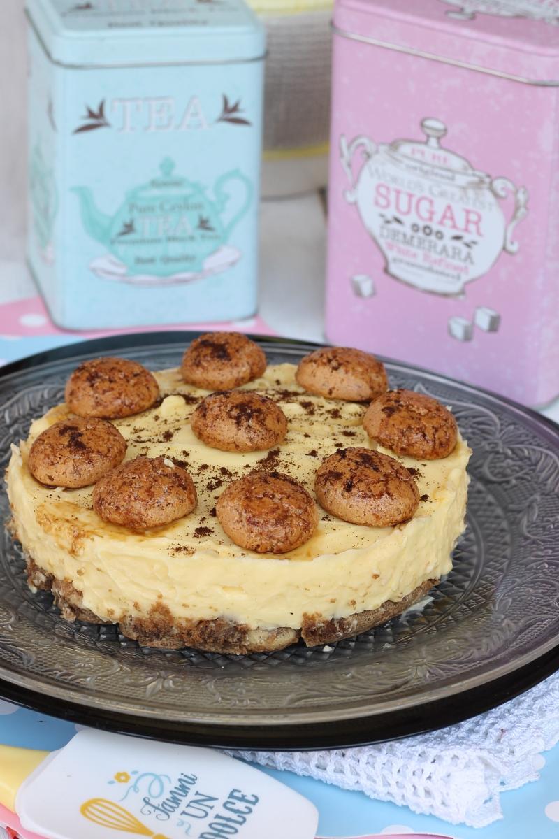 Torta fredda crema caffe' amaretti | ricetta torta senza forno estiva