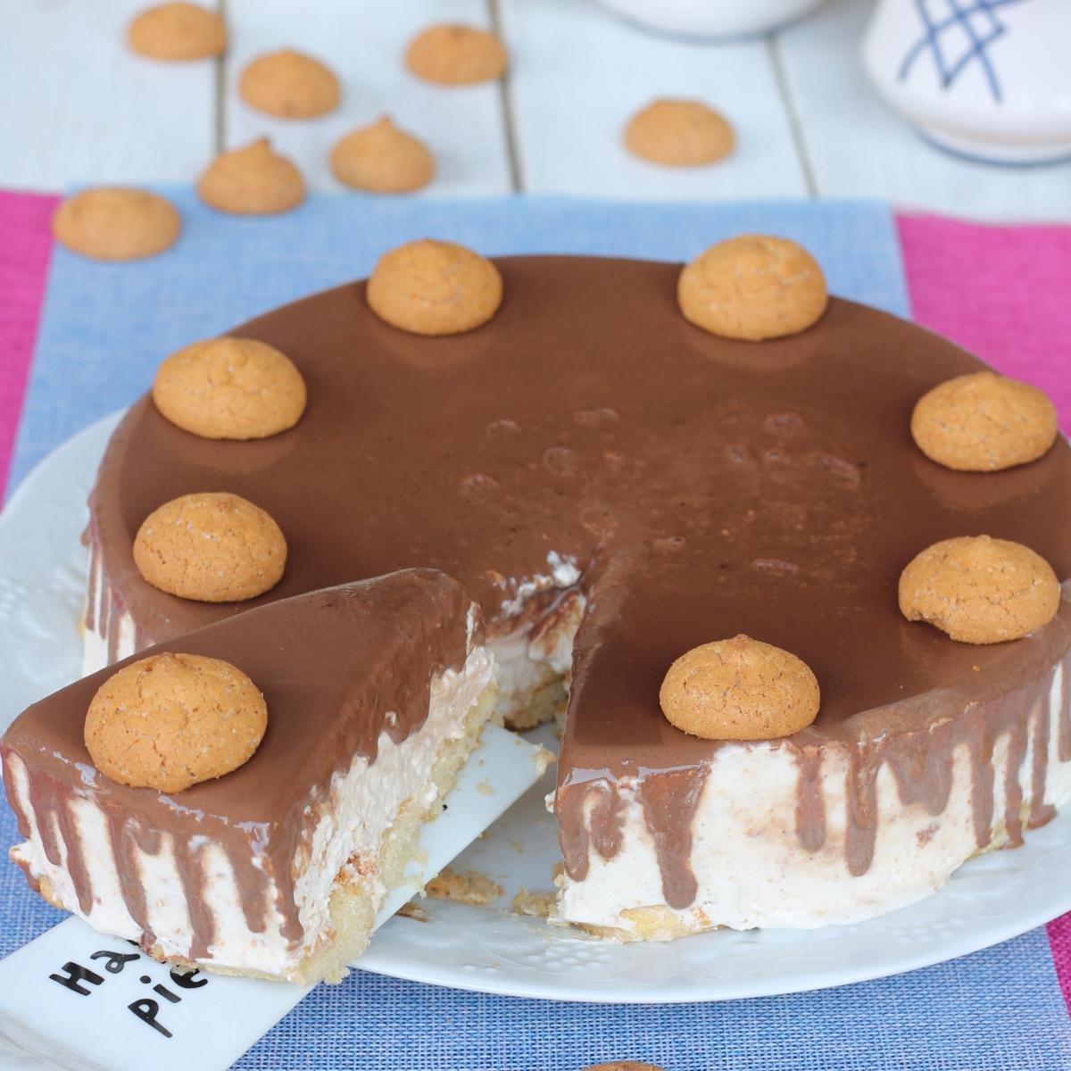 Cheesecake gelato amaretti cioccolato   cheesecake senza colla di pesce