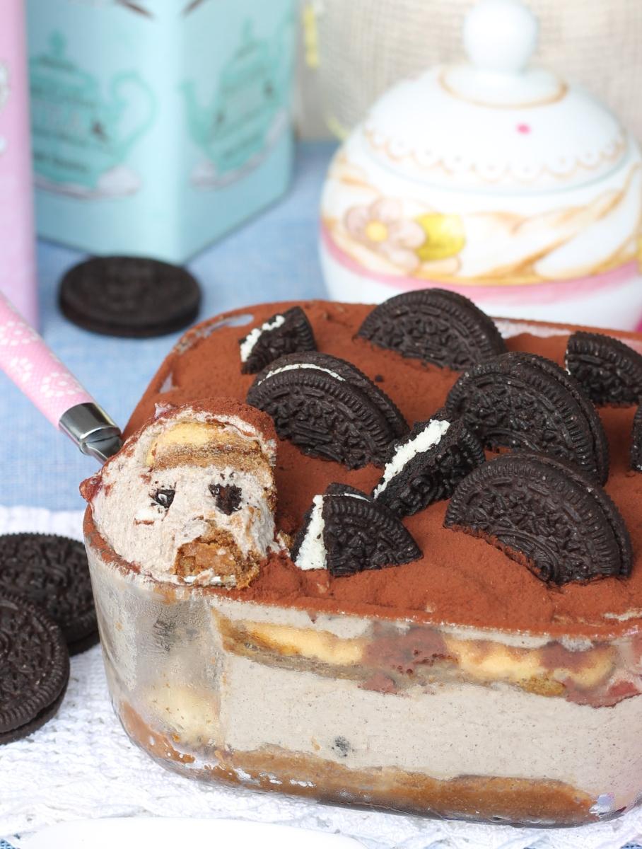OREO TIRAMISU' ricetta tiramisù con crema di biscotti Oreo