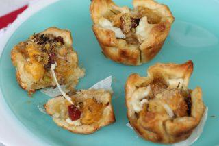 Cestini di sfoglia filanti zucca patate |ricetta aperitivo e antipasto con zucca