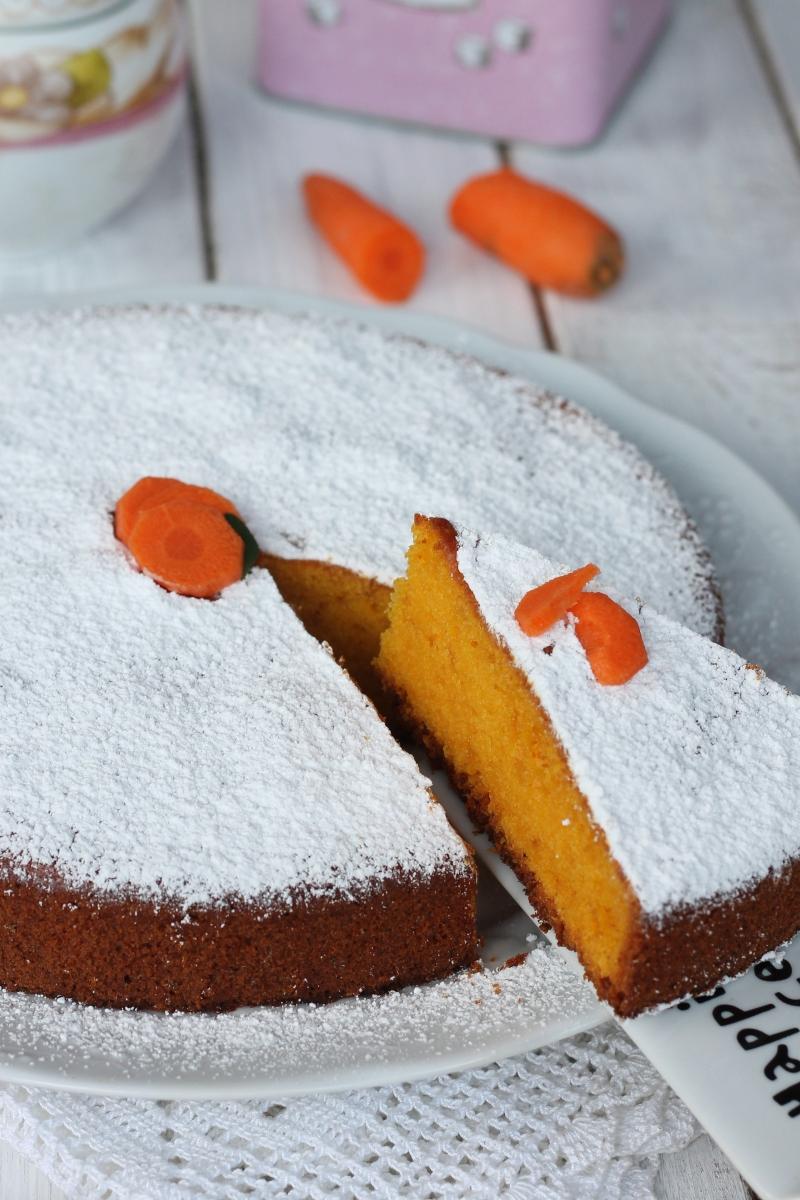RICETTA TORTA ARANCIA CAROTE torta di carote mordida e umida