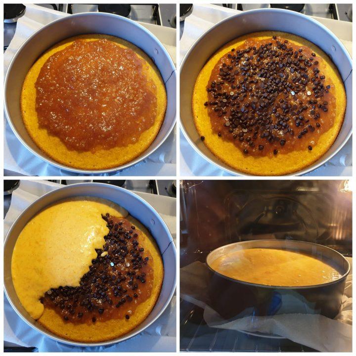Torta di carote versata |ricetta torta di carote umida marmellata e cioccolato