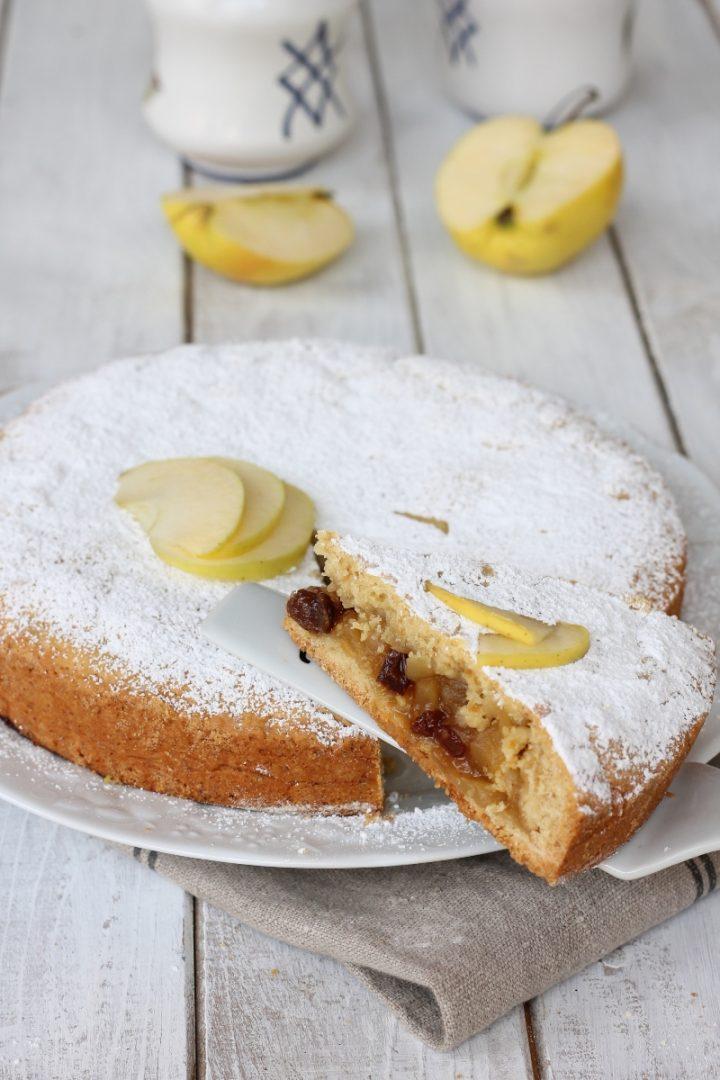 Crostata mele e uvetta senza burro | ricetta crostata con pasta frolla all' olio